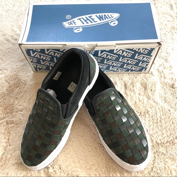 d67c2d823b Vans BNY Sole Series Woven Leather Suede Slip On